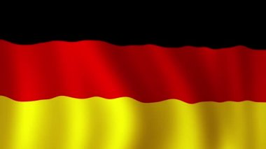 German Flag - looping, waving, panning, — Stock Video