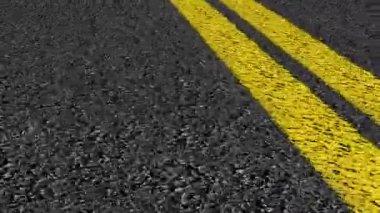 DOUBLE LINE STREET ROAD DRIVE - LOOP, — Stock Video