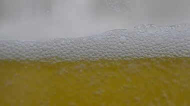 Beer Wine poured into glass, Extreme close Up of wine beer poured into glass. Shallow depth of field. — Stock Video