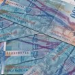 Stock Video: Swiss currency of 100 francs,