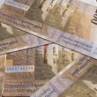 Stock Video: Swiss currency of 200 francs,
