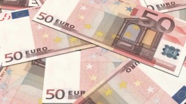50 euro banknotes in a row. — Wideo stockowe