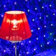 Modern vibrant red table lamp — Stock Photo #48249709