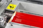 Printing press industrial machine — Stock Photo