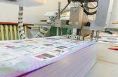 Folding machine in a print shop — Foto Stock