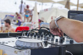 Beach Dj — Stock Photo
