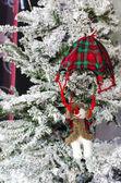 Christmas snowman parachute decoration — Stock Photo