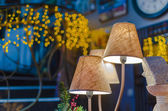 Modern vibrant table lamp — Stock Photo
