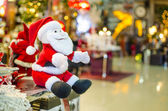 Santa Claus christmas statue — Stock Photo