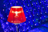 Modern vibrant red table lamp — Stock Photo