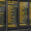 Timetable of Victoria Railway station in London, UK — Stock Photo #48250607