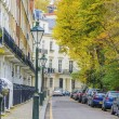 English street with houses in London — Stock Photo