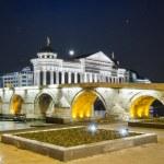 Постер, плакат: Old stone bridge and archeological museum of Macedonia