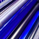 Print machine printing press rollers — Stock Photo #48253443