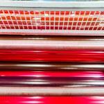 Print machine printing press rollers — Stock Photo #48253487