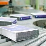 Post press finishing line machine — Stock Photo