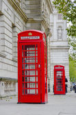 Two red phone boxes at Westminister square in London, UK — Stock Photo