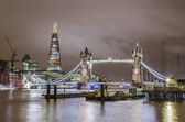 Tower Bridge and London skyline — Stock Photo