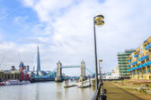 The Shard and Tower Bridge in London — Stock Photo