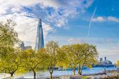 New London skyline and the Shard skyscraper — Stock Photo