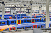 Trains at waterloo station in London — Foto Stock