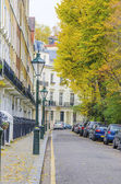 English street with houses in London — Foto de Stock