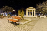 Skopje marble romantic monument and bench — Stock Photo