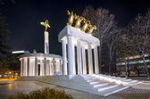 Monument of heroes in Skopje — Stock Photo
