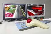 Pringing Press color management control unit — Stock Photo