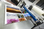 Offset machine roll laminator — Stock Photo