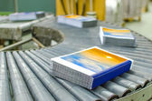 Book, magazine, production line into press plant house — Stock Photo