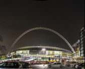 Wembley Stadium at night — Stock Photo