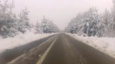 Driving In The Snow — Wideo stockowe