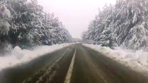 Conduciendo por una carretera rural de montaña — Vídeo de stock