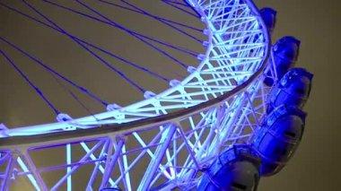 London Eye observation wheel — Stock Video