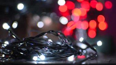 Christmas lights — Stock Video