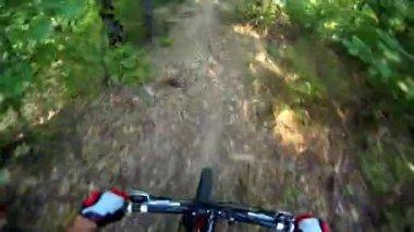Extreme Mountain Bike race — Stock Video