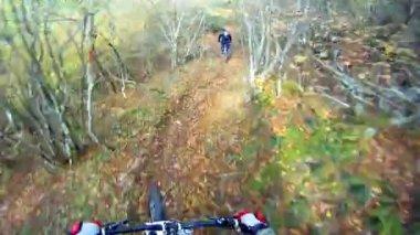 Extreme Mountain Bike Sport Race Cycling — Stock Video