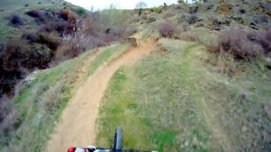 Man riding Mountain Bike — Stock Video