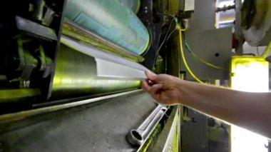 Roto baskı basın tipografi makine — Stok video