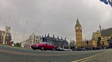 Car Traffic in London — Stock Video