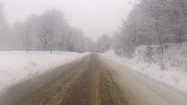 Winter Drive — Stockvideo