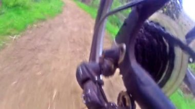 Racing Bike Riding On A Bicycle — Stock Video
