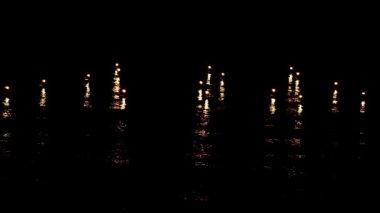 Mum ışıkları hareket ve dalga — Stok video