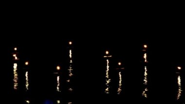 Candles lights move and wave — Stock Video