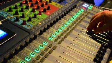 Audio Engineer Working — Stock Video