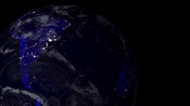 Earth view from space — Stock Video