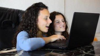 Kids Study Laptop — Stock Video
