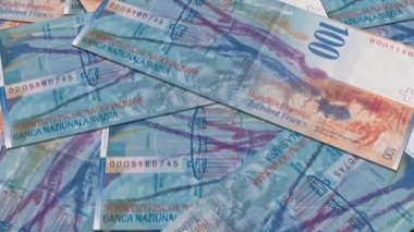 Swiss currency of 100 francs — Stock Video