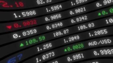 Stock Exchange Tickers Board — Stock Video